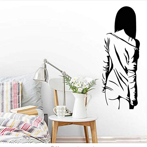 Nackte Sexy Frauen Body Art Decals Für Mädchen Schlafzimmer Vinyl Aufkleber Removable Wallpaper Home Waren Decor Schönheit Kunstwand Silhouette 42x113 cm -