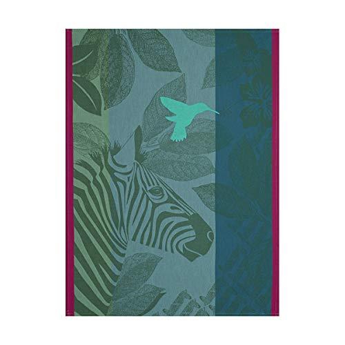 Le Jacquard Français 24671 Torchon Zebra Family Green 60x80 Cotton