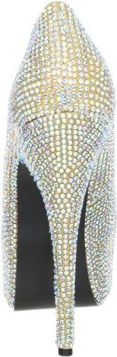 Pleaser Teeze-06R, Damen Pumps Gold Satin-Irid RS