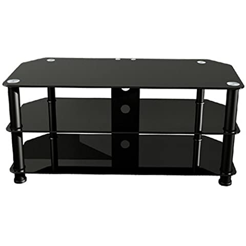 Premier AV HF0042 Plasma & LCD Glass Stand with Cable Management (Black)