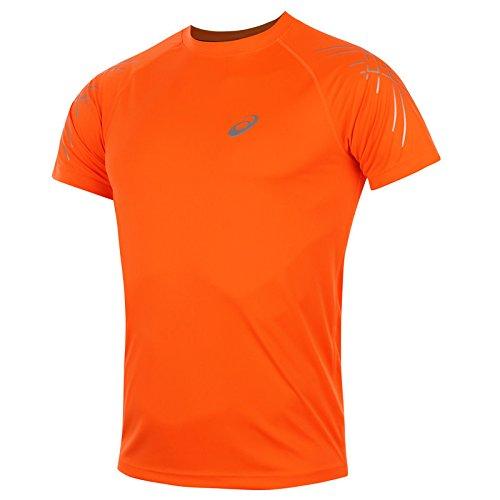 asics-oberbekleidung-stripe-short-sleeve-top-men-mehrfarbig-orange-white-l-121620-0521