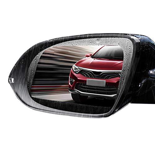 L-Way Auto Rückspiegel Schutzfolie, Regensicher Blendschutz Rückspiegel Fenster Klar Schutzfolie 2Pcs
