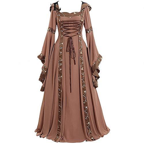 FeiXing158 5XL Kleid Cosplay Kostüm Langarm Kleid mittelalterlichen Vintage Rüschen Kleid Kleid bodenlangen Renaissance Gothic -