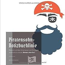 Piratensohn-Notizbuchlinie: Meuterei und das Hinterlassen von Einträgen ausdrücklich erlaubt (Variante: pirate face)