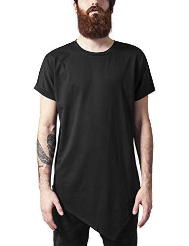 Urban Classics Asymetric Long Tee, T-Shirt Uomo, Nero (Black 7), X-Large