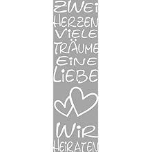 Rayher Stamp, Zwei Herzen, Viele Traume, 4x12 cm, Multi-Colour, 1.2 x 0.4 x 0.25 cm