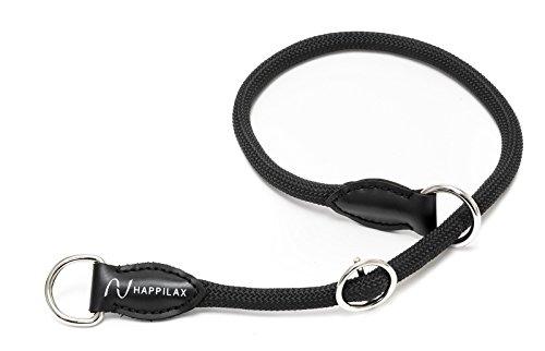 Happilax geflochtenes Hunde-Halsband zum Umlegen mit verstellbarem Stopper, Seil-Halsband für Hunde, 70 cm