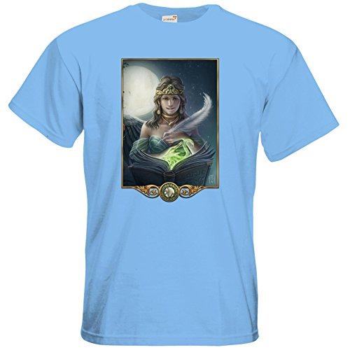 getshirts - Das Schwarze Auge - T-Shirt - Götter - Hesinde Sky Blue