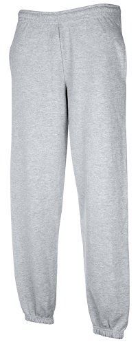 JOGGINGHOSE ELAST BUND FRUIT OF THE LOOM S M L XL XXL S,Heather Grey (Sweatpant Loom)