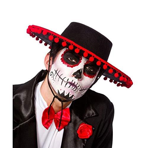 Islander Fashions Tag des Toten spanischen Hut Erwachsener Mexikanische Halloween Kost�m Zubeh�r One - Spanische Senor Kostüm