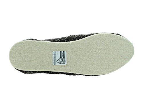 Toms Rope Sole 1019B09R, Espadrillas Donna Brown Chevron Wool