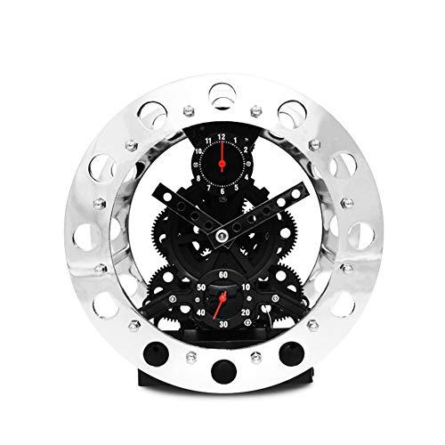 BGGZXX Reloj de Pared del Engranaje Montado en la Pared Mudo, Creativo Reloj de Pared Adecuado para Sala Habitación,Black