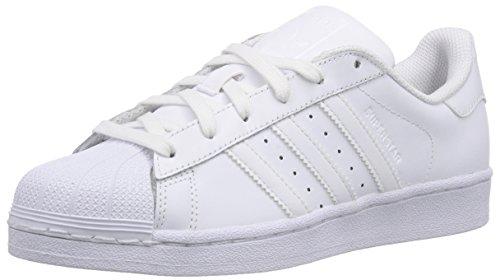 adidas Superstar Foundation, Unisex-Erwachsene Sneakers, Weiß (Ftwr White/Ftwr White/Ftwr White), EU 49 1/3 (Adidas Damen Trefoil Superstar)