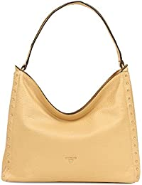 Da Milano LB-2240 Leather Women s Hobo Bag (Light Gold) 4d9aec957ad82