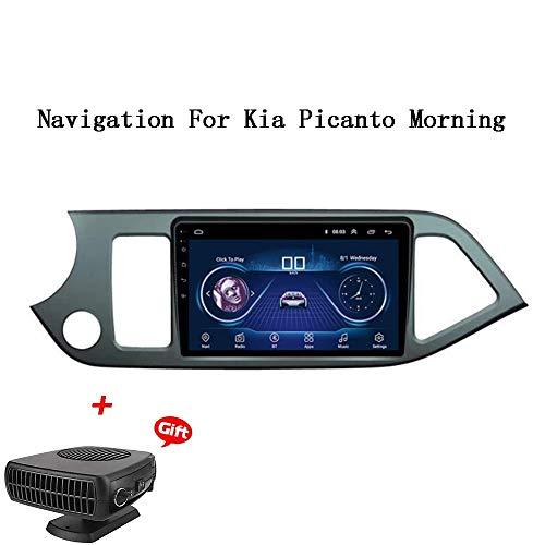 XBRMMM Android 8.1 Auto-DVD-Spieler GPS-Stereo Head Unit Navi-Radio Multimedia WiFi Für Kia Picanto Morgen 2012-2017 LHD Lenkradsteuerung