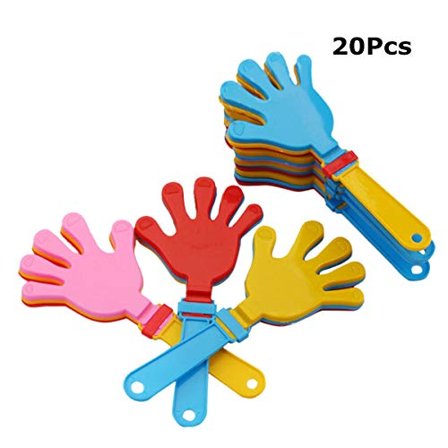 YeahiBaby 20pcs Hand Clapper Party Bag Füller Spielzeug Zufällige Farbe (Hand Clappers Noisemakers)
