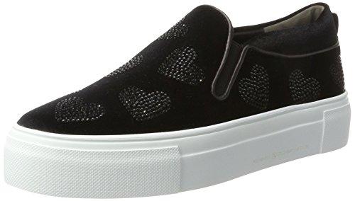 Kennel und Schmenger Schuhmanufaktur Big, Sneaker Basse Donna Schwarz (Black/Black Sohle Weiss)