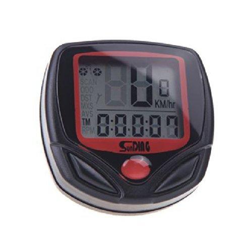 Sunding SD-546AE Cablee Velo Bicyclette Cycle Ordinateur Kilometrique Compteur de vitesse Retro-eclairage LCD 23 Fonctions