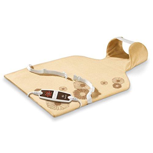 Beurer HK-58-LED - Almohadilla electrónica cervical / dorsal, funda lavable, 62 x 42 cm, color crema