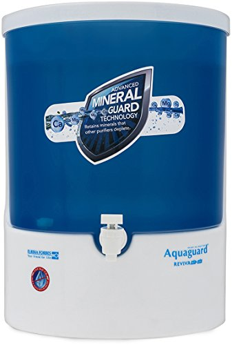 Eureka Forbes Aquaguard Reviva RO + UV + MTDS Water Purifier, White & Blue