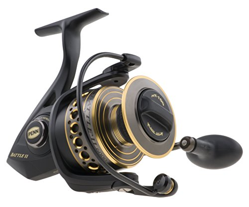Penn Battle II 4000 Spin Reel Box, Schwarz, S (Penn Angelrollen-spinning)