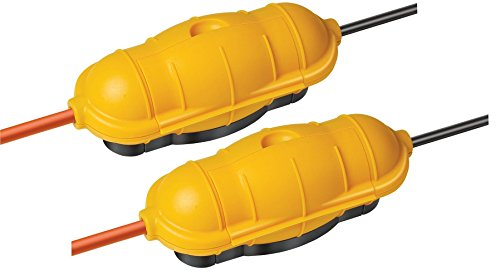 Doppelpack Brennenstuhl Safe-Box Schutzkapsel für Kabel BIG IP44 outdoor gelb, 1160440 (2, Safebox BIG)