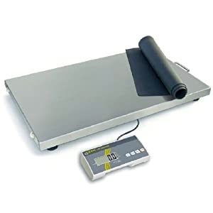 Paket- und Veterinärwaage mit extragroßer Wägefläche [Kern EOS 150K50XL] Präzision bis 50 g, Wägebereich max. 150 kg