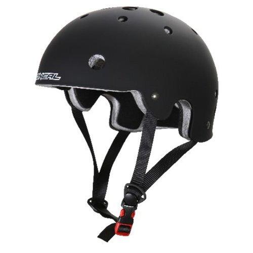 O'Neal Slash BMX Helm schwarz matt Urban Fahrrad Mountainbbike Inliner Skate MTB BMW Slopestyle, 0619-20, Größe Small (50-53 cm)
