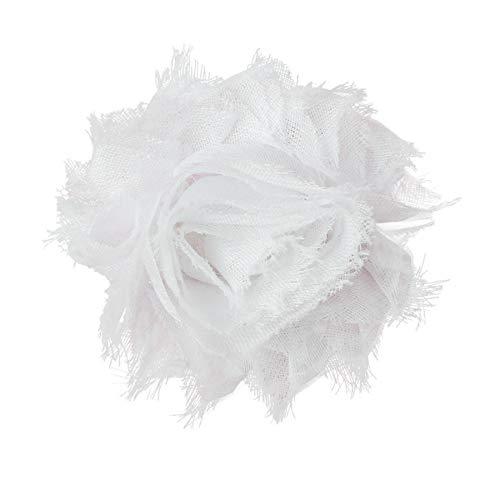 Dimples Hundehalsband Blume - Weiße Rose Halsbandschmuck für kleine und mittelgroße Hunde - Hunde Accessoire - Blumen Anhänger für Hunde Halsband - Hundebesitzergeschenk - Hunde Hochzeitsmode