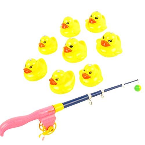 MagiDeal Magnetische Enten & Angelrute Angeln Spielset - Kinder Baby Badewannenspielzeug