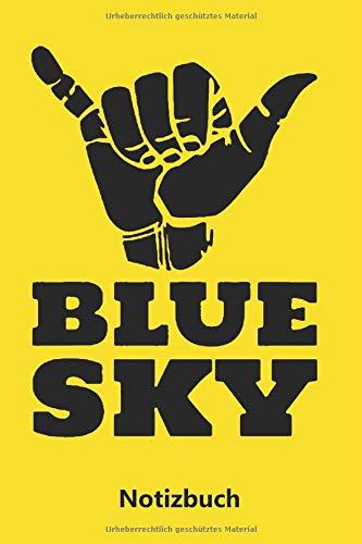 Notizbuch: Blue Sky | Blauer Himmel (liniert | 100 Seiten) (Herren Kostüm Springen)