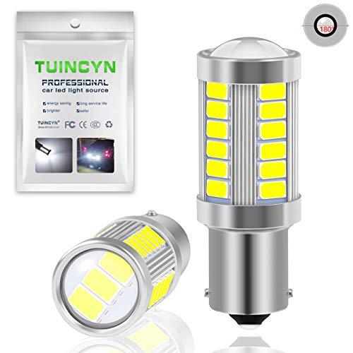 Tuincyn BA15S, 1141, 1095, 7506, 1156, 1156A, P21W Bombillas LED 563033SMD, bianca,luz brillante de freno, señales de giro, bombilla de luz de estacionamiento, marcadores laterales, 2 unidades