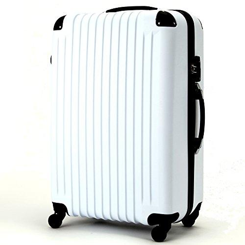 (ファーストドア) 1STDOOR 超軽量キャリーケース TSAロック付 (Sサイズ(34L), ホワイト)
