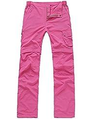 BBYaKi Deportes Al Aire Libre De Los Pantalones Desmontables , Rose Red , M