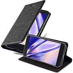 Cadorabo Coque pour LG Nexus 5X en Noir Nuit - Housse Protection avec Fermoire Magnétique, Stand Horizontal et Fente Carte - Portefeuille Etui Poche Folio Case Cover