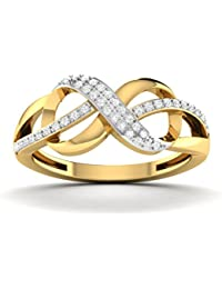 Vijisan 0.14 Ct. Gold Rhodium Plated 925 Sterling Silver Eternity Ring For Women
