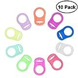 NUOLUX 10 Stück Baby Silikonring Adapter für Schnullerketten