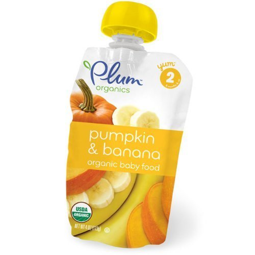 Newsbenessere.com 41Coky%2B4F3L Organic Alimenti Per L'infanzia, Fase 2, Zucca & Banana, 4 oz (113 g) - Plum Organics