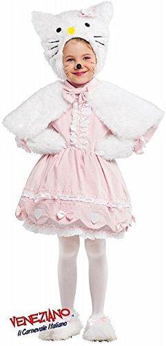 lung Deluxe Baby &ältere Mädchen 6- teiliges Pelzig weißen Kaninchen Osterhase Cartoon Buch Kostüm Kleid Outfit 0-6 Jahre - Weiß, 2 years (Deluxe Kind Große Kostüme)