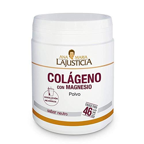 Ana Maria Lajusticia - Colágeno con magnesio - 350 gramos (sabor neutro) articulaciones fuertes y piel tersa. Regenerador de tejidos con colageno hidrolizado tipo 1 y tipo 2. Envase para 46 días.