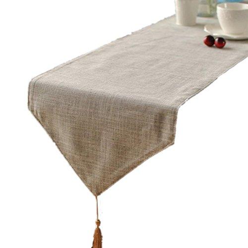 Preisvergleich Produktbild GGCCX Tischläufer Im Japanischen Stil Plain Baumwolle Und Leinen Tischläufer , Gray , 30*220Cm