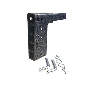 Récepteur double goutte d'attelage, 1–1/10,2cm économie Classe 2par Geny gh-100516,5cm pendantes Raise Récepteur Support de vélo pour transport et boule d'attelage