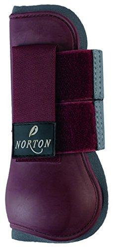 norton-guetres-pvc-abiertos-bordeaux-gris-tallacheval