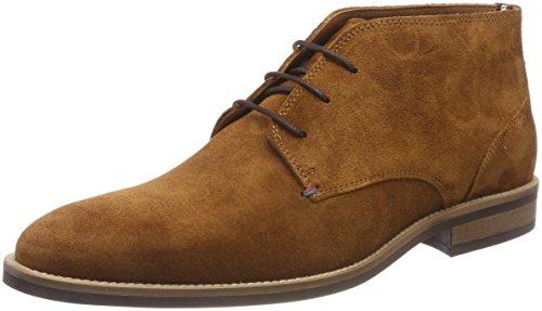 Tommy Hilfiger Herren Essential Suede Boot Oxfords, Braun (Cognac 606), 44 EU