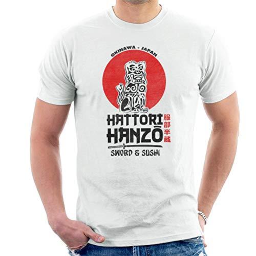 Black Sushi (Hattori Hanzo Sword and Sushi Black Text Kill Bill Men's T-Shirt)