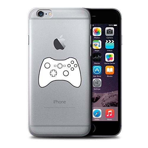 Stuff4 Hülle / Case für Apple iPhone 6+/Plus 5.5 / Schwarz Gameboy Muster / Spielsteuerung Kollektion Weiß Xbox 360