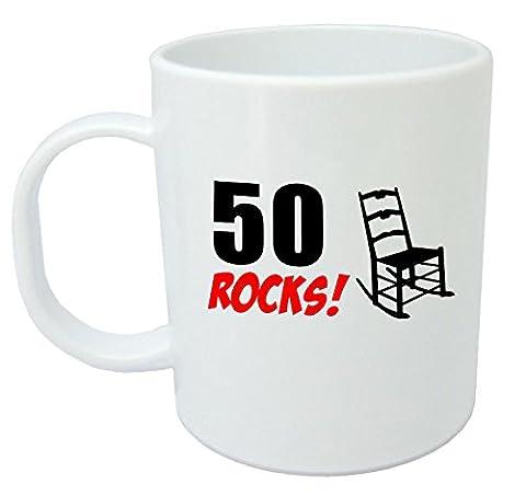 50 Rocks, 50th Birthday Gift Mug by LOLMUGS