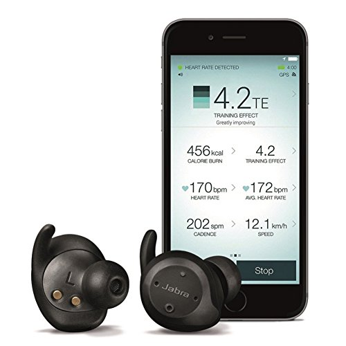 Jabra Elite Sport True Wireless Bluetooth Headset with Heart Rate and Activity Monitor - Black