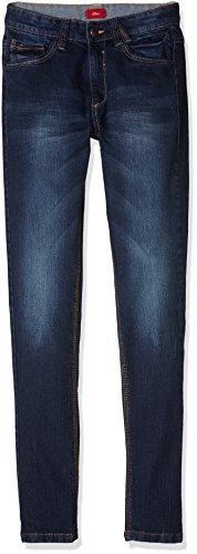 s.Oliver Junior Jungen Jeanshose 75.899.71.0608, Blau (Blue Denim Stretch 59Z7), 158 (Herstellergröße: 158/SLIM)
