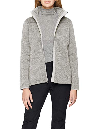 Columbia Damen Full Zip Fleece (Columbia Fleecejacke für Damen, Altitude Aspect III Full Zip, Polaire, Beige (Sea Salt), Gr. L, 1803553)